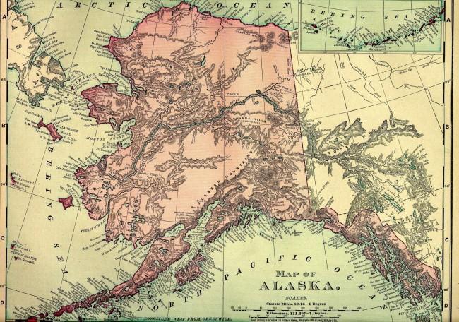 17 апреля 1824 г. определена граница русских владений в Северной Америке